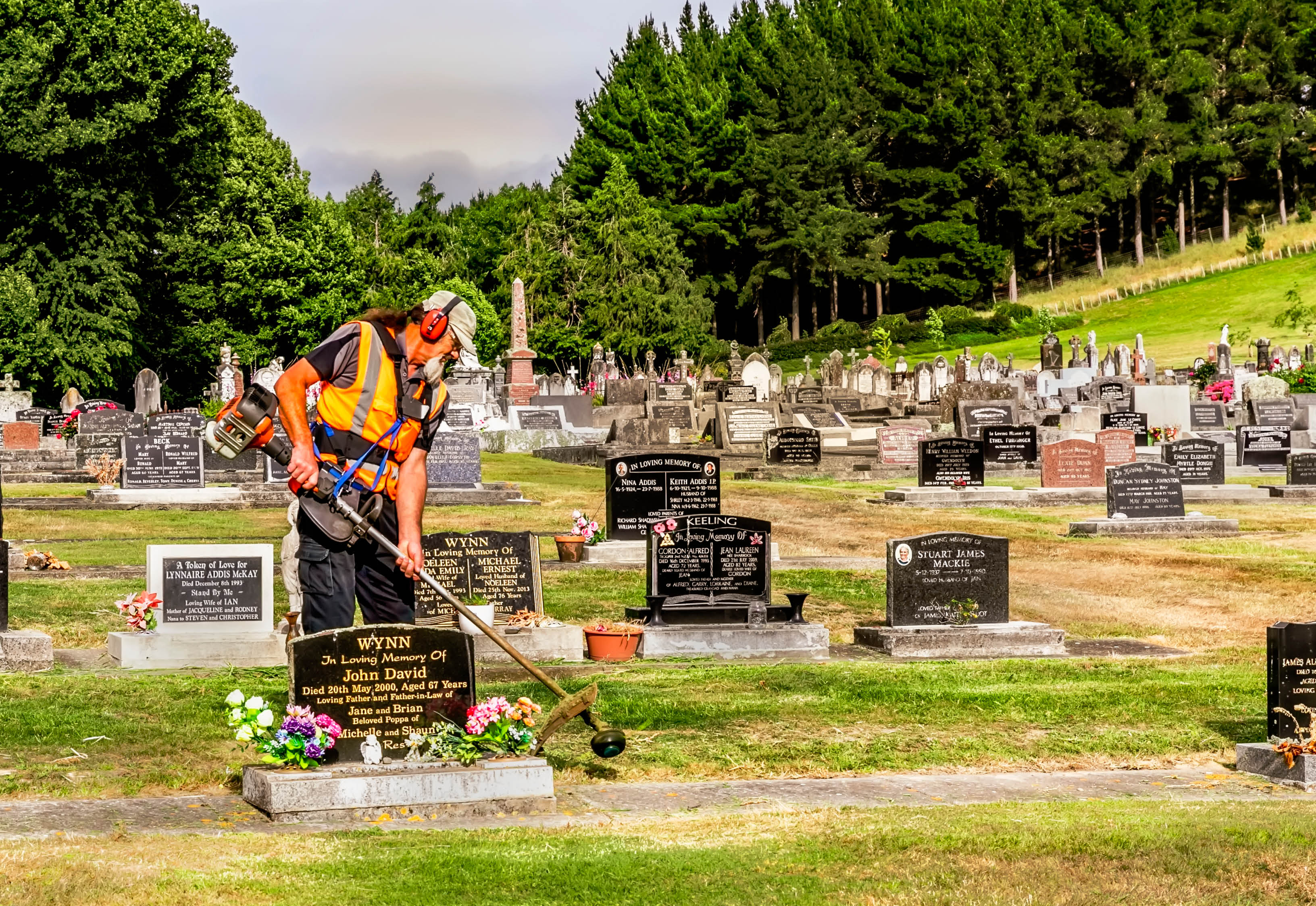 Cemetery trimming